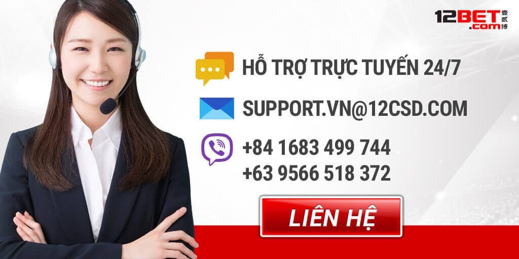 liên hệ hỗ trợ 12bet