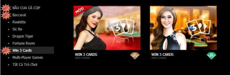 Win 3 Card