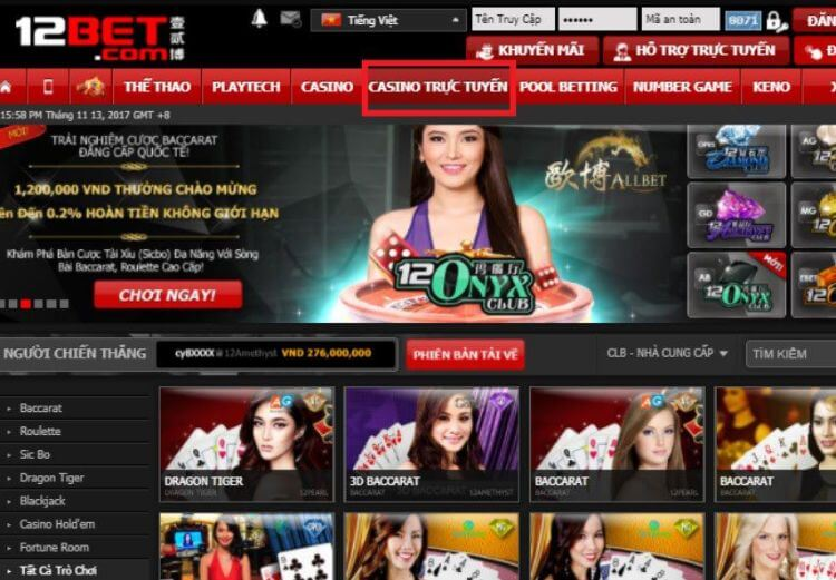 chơi bài online 12bet